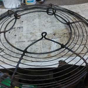 扇風機レストア② ファンガードの修理とヘッド分解