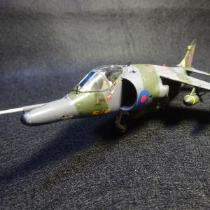 ハセガワ 1/72 ハリアー GR Mk.3 駐西独イギリス空軍第4飛行隊 所属機 完成