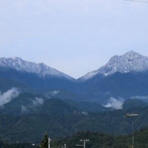 甲斐駒ヶ岳.八ヶ岳.鳳凰三山 2020年初冠雪です