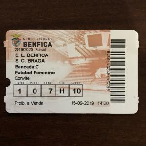 SL Benfica×SC Braga ~ポルトガル男子フットサル、ベンフィカ対ブラガ~
