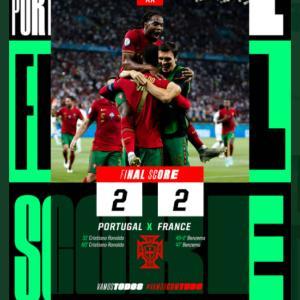 ユーロ2020、ポルトガルが辛くもベスト16入り。