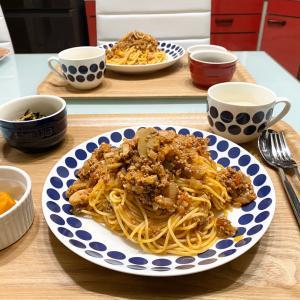 【料理】ばんごはん/時短で美味しい/ミートソーススパゲッティ《2019/12/10 夕飯》
