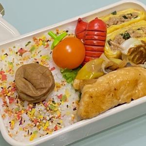 【お弁当】お弁当作り/bento/ささみのねぎマヨポン酢《旦那弁当》