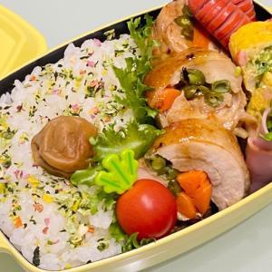 【お弁当】お弁当作り/bento/ピリ辛チキンロール《旦那弁当》