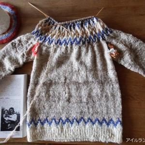 一冬一着、手紡ぎ&手編みのセーター 後編