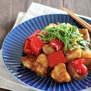 酢豚風豚ひれ肉の梅だれ炒め