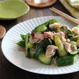 豚肉とたたききゅうりの炒め物