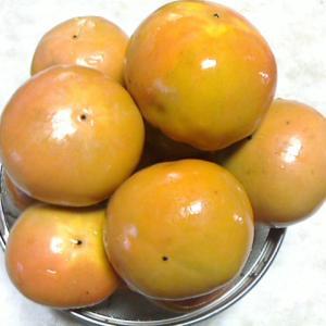 秋の果物はやっぱり柿だわ