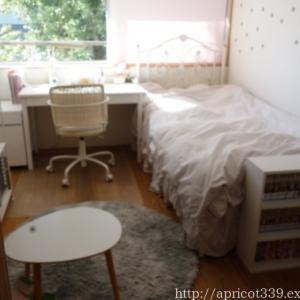 中3長女の部屋 ベッドカバーの買い替え