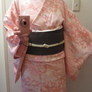 もう着られない桜の小紋