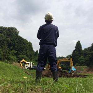 ため池工事の進捗状況です!!