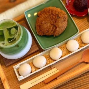 あんこカフェで白玉と丸いたい焼き!【まんまる】