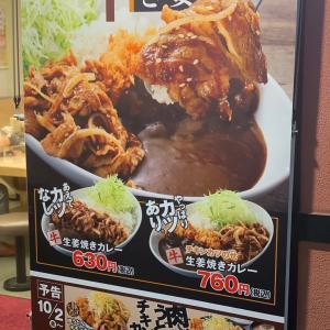 【かつや】生姜焼きカレーを食べてみた《期間限定》