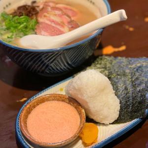 【麺の坊 砦】《神泉/夜》肉増しらぁめん+砦のおむすび明太ソース