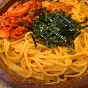 【スパゲティーnokishita】《新宿三丁目/昼》タラコとうにとキムチ