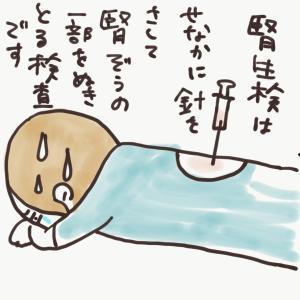 ばぁば腎生検で入院。