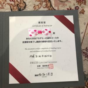 DECOクレイクラフト☆造形講師になりました!!