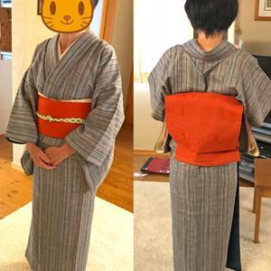 【レッスンの様子】「キモノ譲ります企画」で手に入れた着物で練習しました