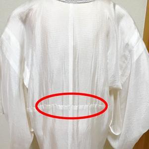 【レッスンの様子】着物・長襦袢の糸は、ほつれるように出来ています