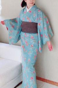 【着物スタイル】禁断の領域!? 忘れられない締め心地・結城手織りの半幅帯デビュ~♪