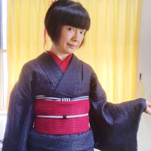 【着物スタイル】ジミ目着物は帯と小物でメリハリをつける♪