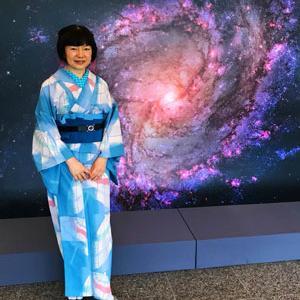 【着物でお出掛け】お1人様で佐野美術館「写真展138億光年宇宙の旅」へ