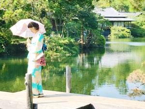 【浴衣でおでかけ】楽寿園の小浜池が59年ぶりの満水♪