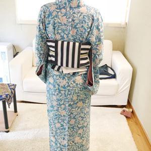【生徒さんの様子】「三島まちそぞろ歩き」で買った単衣着物を着てくれました
