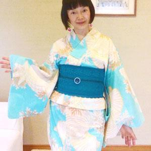 【着物&浴衣スタイル】着心地の良し悪しが以前より敏感になってきた*三嶋大社着物展でのスタイル
