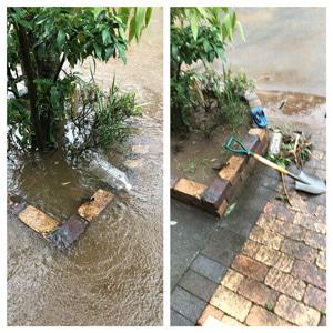 【洪水】タイヘンです~;;高橋川があふれて床下浸水!