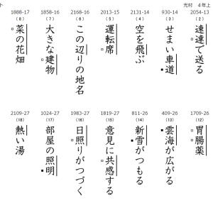 新漢字の読み練習&筆順練習プリント