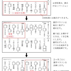 漢字マラソン実施中!