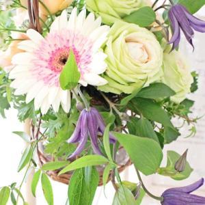 花器の置き方でデザインを考える【フラワーアレンジメント教室 西宮芦屋神戸】