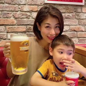 2夜連続でメガサイズの生ビールを飲みました!これ、幸せでしかないですね、、、。