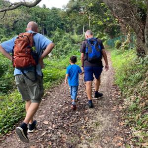 28914歩を5歳息子と一緒に歩きました!私の幸せな休日です。