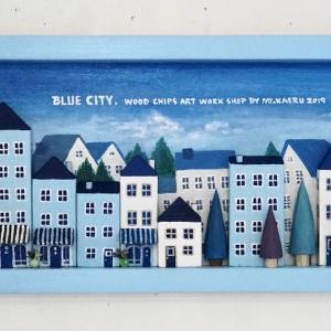 青い街の画 サンセットの画