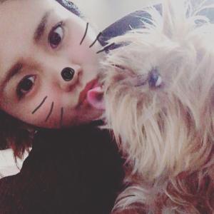 愛犬chanと♡