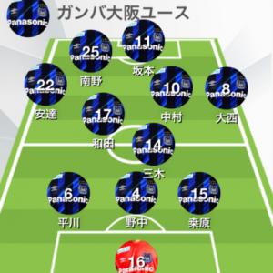 レッズY-ガンバY 第45回 日本クラブユースU-18(Green Cardチャンネル視聴)