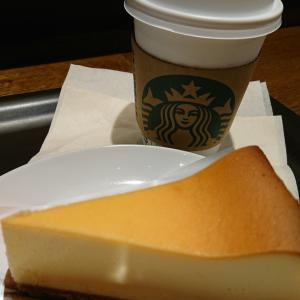 暑い/スタバのチーズケーキ