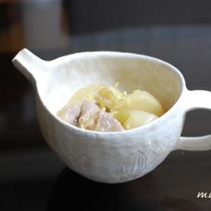 かぶと豚肉の煮物柚子こしょう風味♪