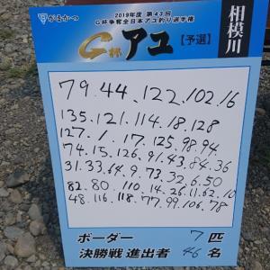G杯相模川予選1回戦(速報)