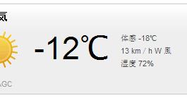氷点下12度ラン