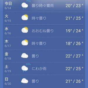 梅雨入りまだ?なの?