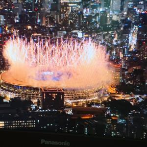 東京オリンピック、始まった~!!