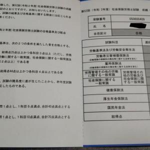 令和2年度社会保険労務士試験に合格しました