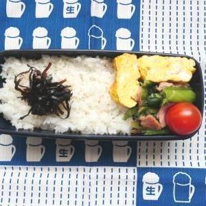 小松菜ベーコン弁