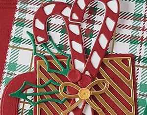 デリカータ教秘伝の押し方&キャンディーケーンにゴールドオーバーレイのマグカップ!-カップ・オブ・クリスマスダイカット編 Card No.274