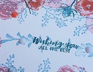 動画:パープルポージーのキャンパス上でIn Color4色の花が咲く!!ワンレイヤーなのにこんなにゴージャス Card No.290&291