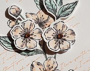 新製品スニークピーク:お花と葉っぱを増やして盛り上げたけどすっきりに見えるのはなぜ?フォエバー・ブロッサム Card No.333