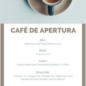 CICHA Cafe de apertura 9月25日 メキシコ大使館